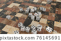 六面體骰子3DCG 76145691