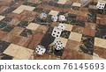 六面體骰子3DCG 76145693