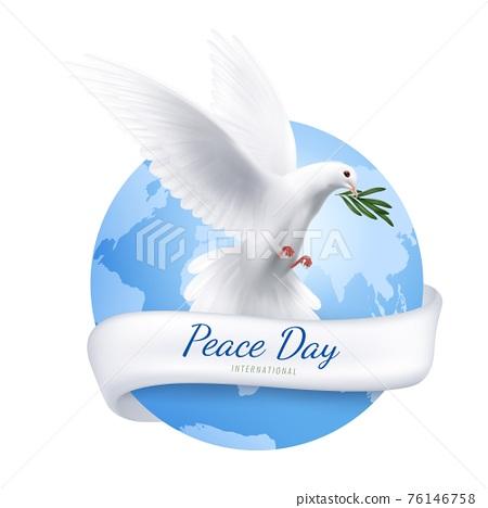 White Dove Emblem 76146758