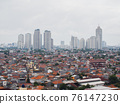 Panorama of the city of Jakarta, the capital of Indonesia, in cloudy weather. 76147230