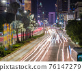 Lights of traffic cars in Jakarta. Indonesia. 76147279