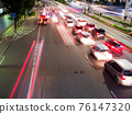 Lights of traffic cars in Jakarta. Indonesia. 76147320