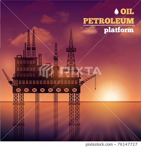 Oil Petroleum Platform 76147727