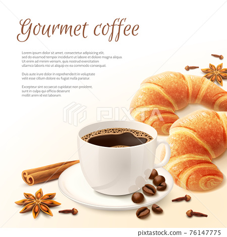 Breakfast With Coffee Background 76147775