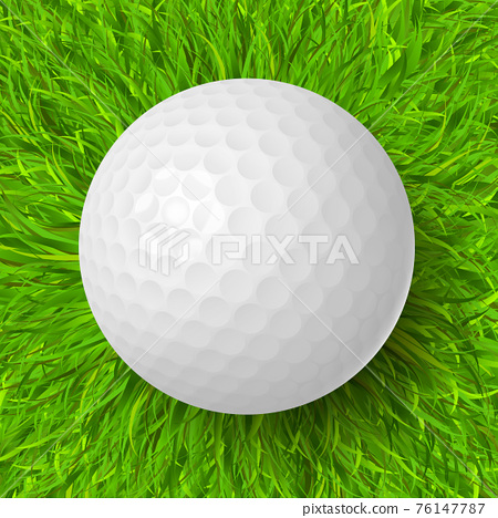 golf ball on grass 76147787