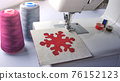 electric sewing machine with thread and bobbin 76152123