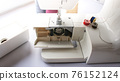 electric sewing machine with thread and bobbin 76152124