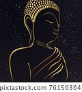 Golden buddha state under the star 76156364