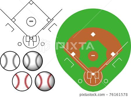 棒球 矢量 體育場 76161578