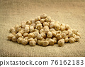 Chickpea on sackcloth 76162183
