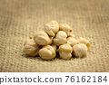 Chickpea on sackcloth 76162184