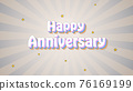 Happy Anniversary vintage text over background 76169199