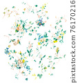 色彩豐富的花卉素材組合和設計元素 76170216