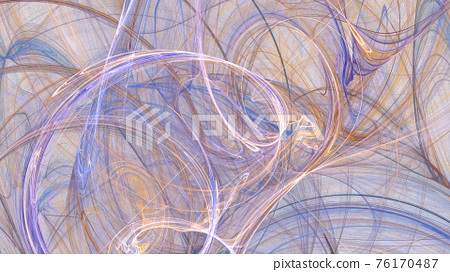 Fractal gravel. Abstract colorful picture 76170487
