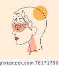 minimal woman face 76171790