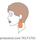Minimal woman face 76171791