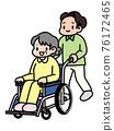按下輪椅的男士 76172465