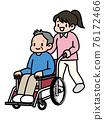 女人按下輪椅 76172466