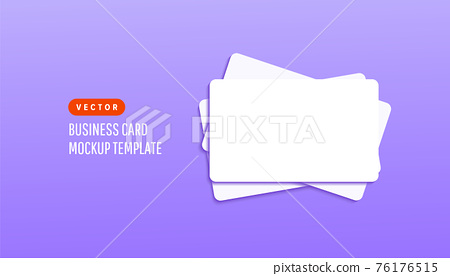 Empty white paper template mock up cards on lilac background. Vector illustration for your design 76176515