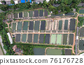 Aquaculture business of prawn and fish farm and aerator pump in dug pond 76176728