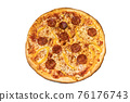 Sausage cheese pepperoni pizza with bell pepper 76176743