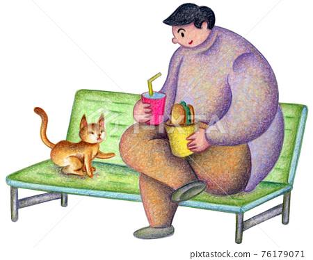cat, pussy, lunch break 76179071