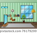 Living room interior design with furniture 76179200