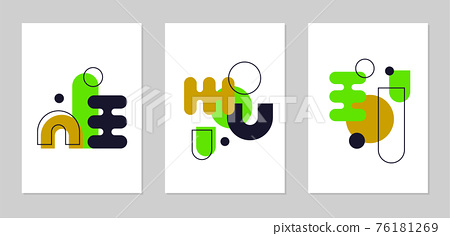 Abstract Geometric Poster Design 76181269