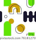 Abstract Geometric Seamless Pattern 76181270