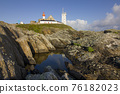 Abbey ruin and lighthouse, Pointe de Saint-Mathieu, Brittany, France 76182023