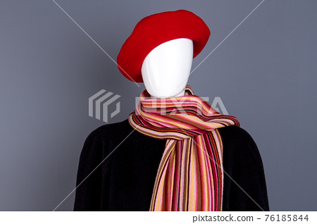 Mannequin in female autumn outfit. 76185844