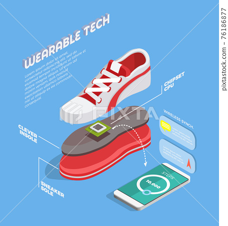 Wearable Technology Isometric Composition 76186877