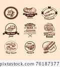 Sketch meat labels 76187377