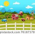 Farm Cartoon Background 76187378