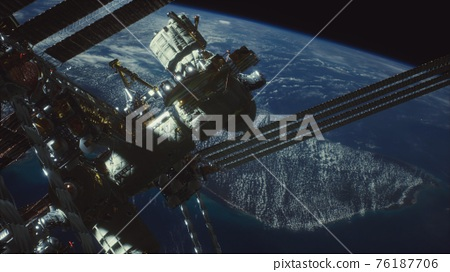 International Space Station. Elements of this image furnished by NASA 76187706