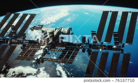 International Space Station. Elements of this image furnished by NASA 76187710