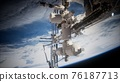 Earth and outer space station iss 76187713