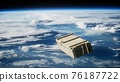 old wood box on Earth orbit 76187722
