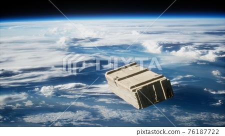 old wood box on Earth orbit 76187722