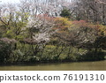 I walked in Mitsuike Park on a sunny day 76191310