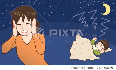 밤 울음 아기, 산후 우울증 엄마 76196879