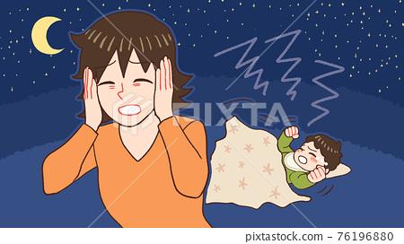밤 울음 아기, 산후 우울증 엄마 76196880