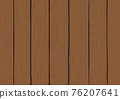 Retro old grunge vintage brown wooden plank wall texture abstract background vector illustration 76207641