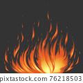 燃燒的火焰 76218503
