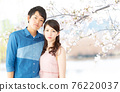 Couples and cherry blossoms 76220037