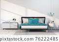 interior modern bedroom, Minimalism. 3d render 76222485