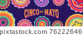 Cinco de Mayo - May 5, federal holiday in Mexico. Fiesta banner and poster design with flags 76222646