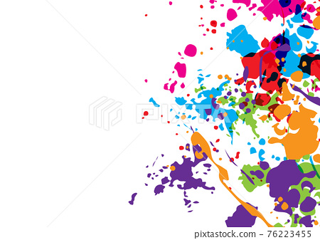 Abstract vector splatter color isolated color background design. illustration vector design. 76223455