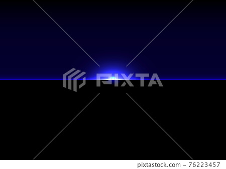 abstract futuristic blue light on dark background. Illustration Vector design technology concept 76223457