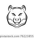 Black and white line art of bear head. Good use for symbol, mascot, icon, avatar, tattoo, T Shirt design, logo or any design you want. 76223855